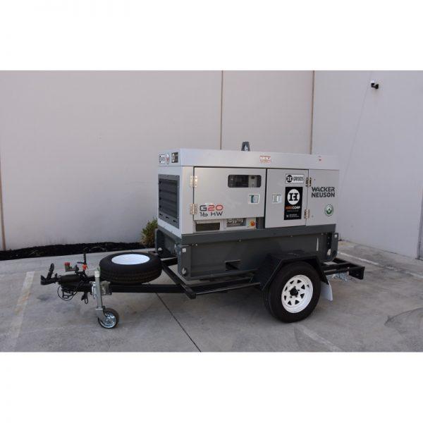 Wacker Neuson G20 Generator 20KVA - Trailer Mounted Hire Sales